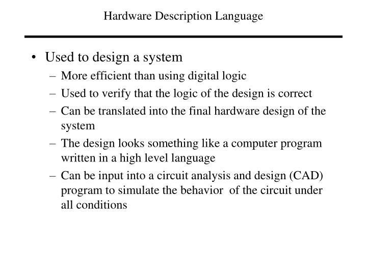 Hardware description language