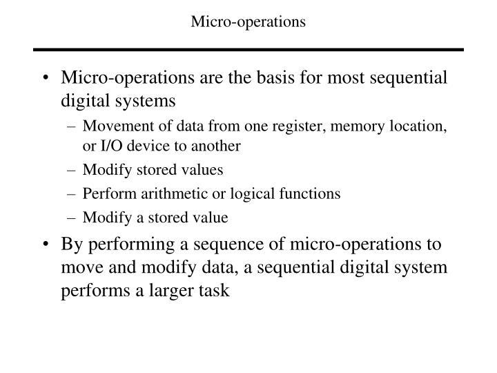 Micro operations
