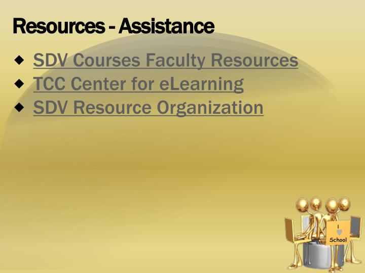 Resources - Assistance