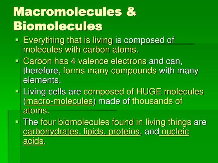 Macromolecules & Biomolecules