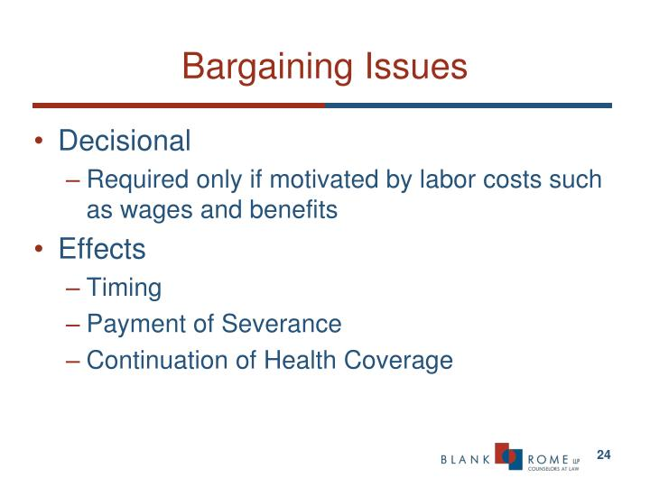 Bargaining Issues