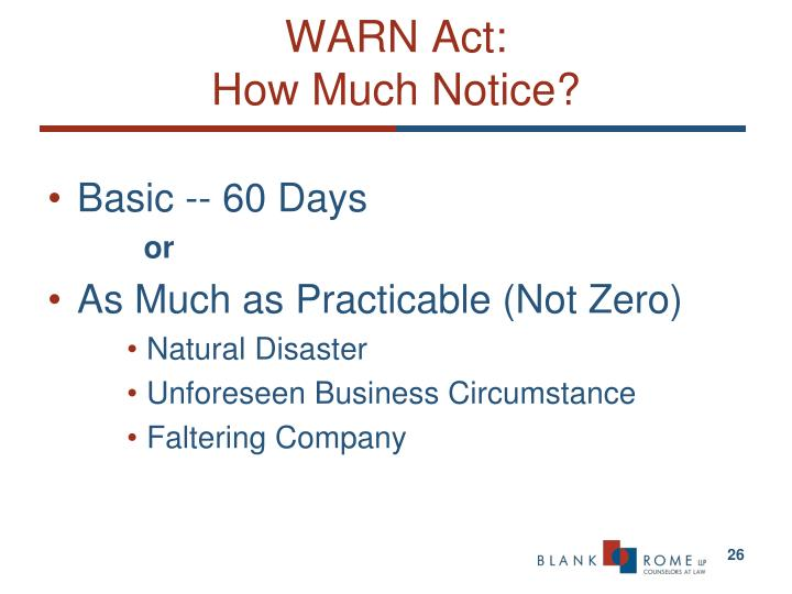 WARN Act: