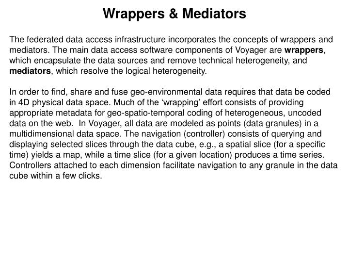 Wrappers & Mediators
