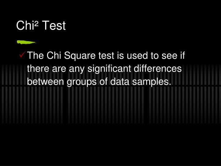 Chi test