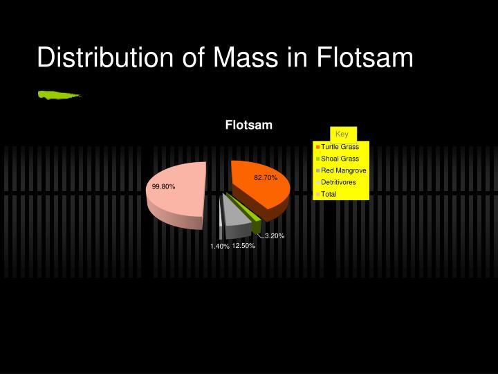 Distribution of Mass in Flotsam