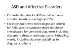 asd and affective disorders