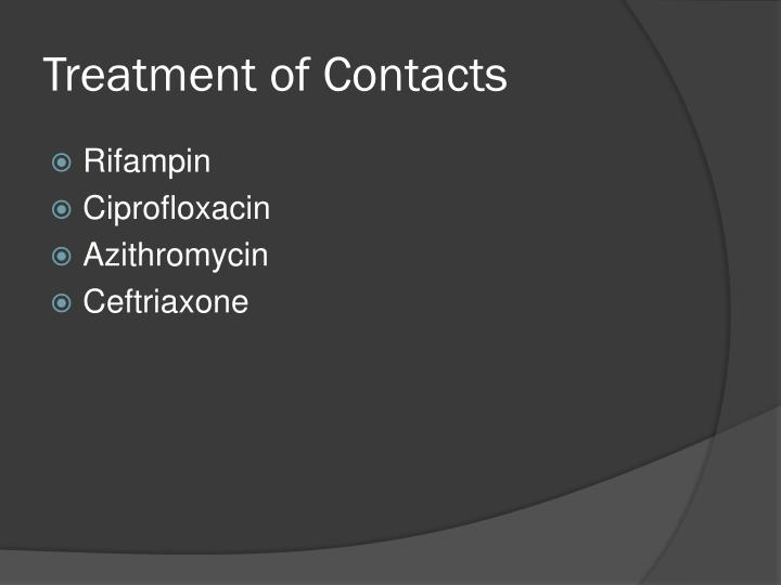 Treatment of Contacts