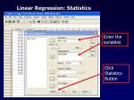 linear regression statistics