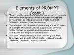 elements of prompt cont
