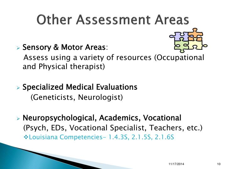 Other Assessment Areas