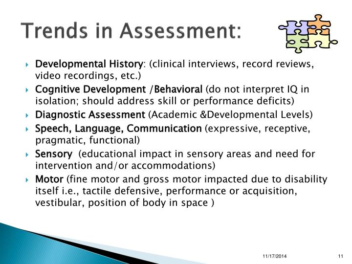 Trends in Assessment:
