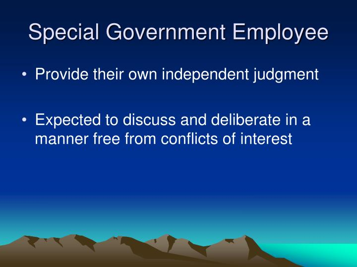 Special Government Employee