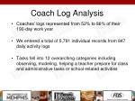 coach log analysis