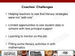coaches challenges