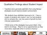 qualitative findings about student impact