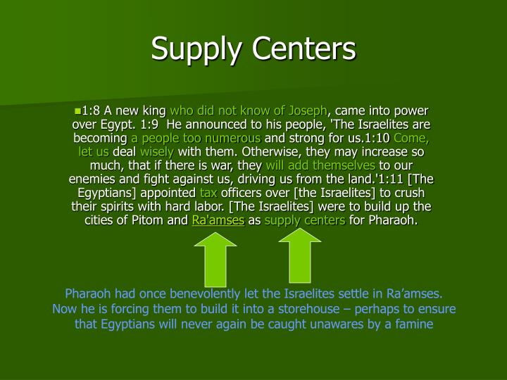Supply Centers