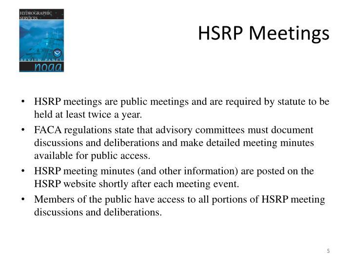 HSRP Meetings
