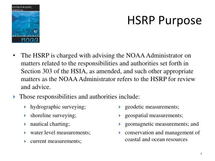 HSRP Purpose