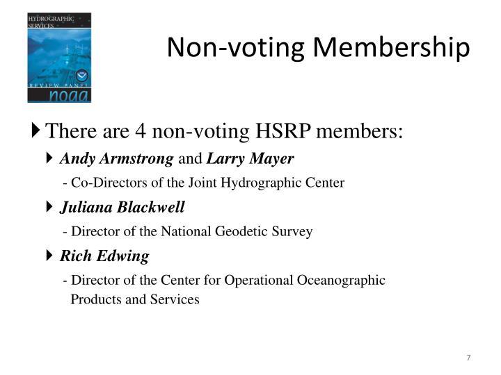 Non-voting Membership
