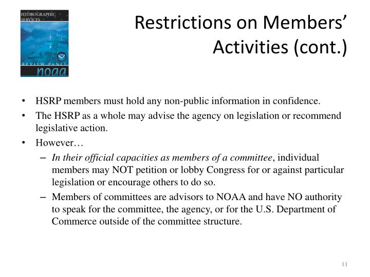 Restrictions on Members'