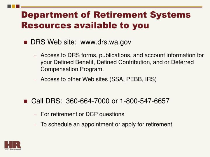 Department of Retirement Systems
