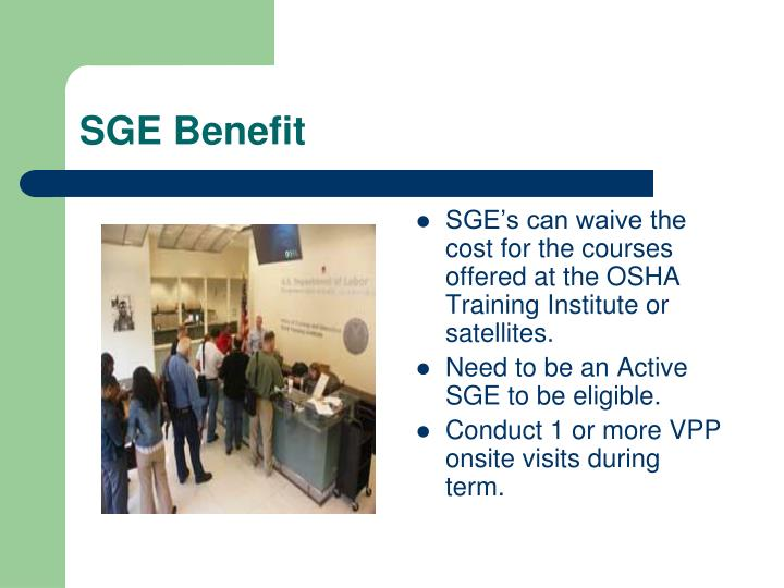 SGE Benefit