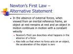 newton s first law alternative statement