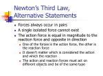 newton s third law alternative statements