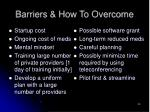 barriers how to overcome