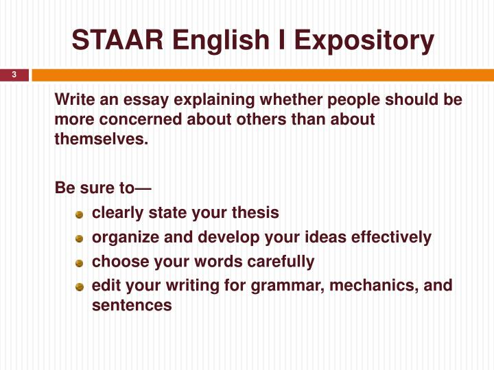 Staar english i expository1