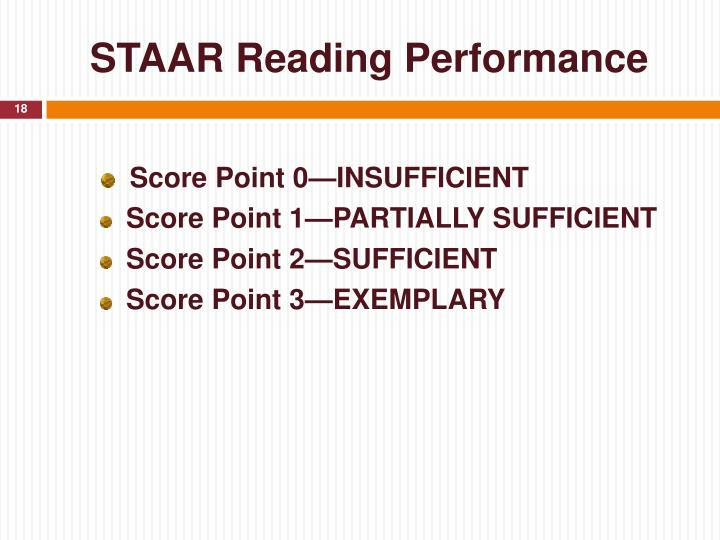 STAAR Reading Performance