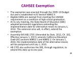 cahsee exemption
