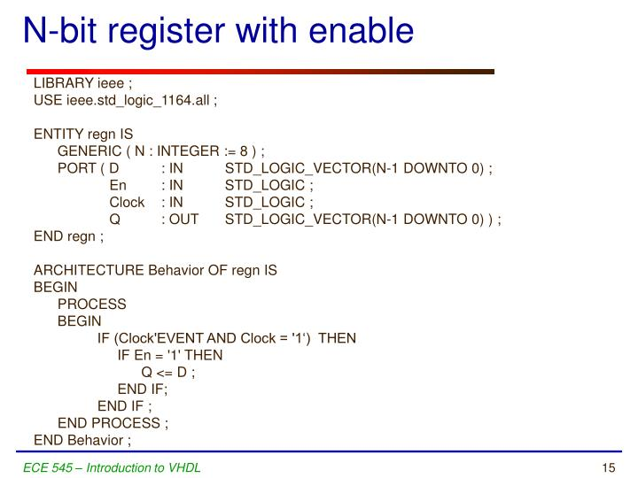 N-bit register with enable