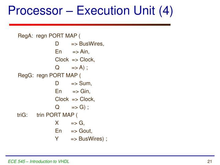 Processor – Execution Unit (4)