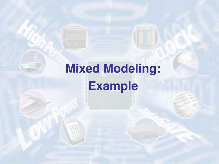 Mixed Modeling: