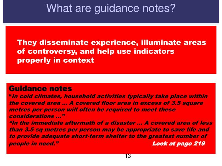 What are guidance notes?