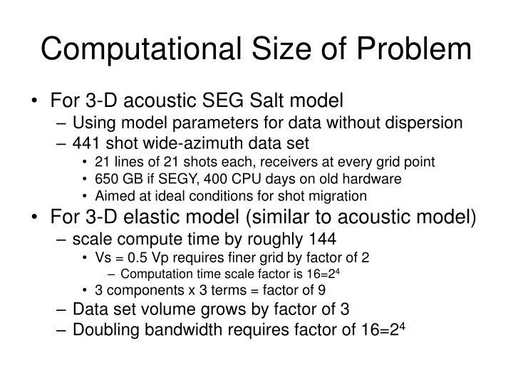 Computational Size of Problem