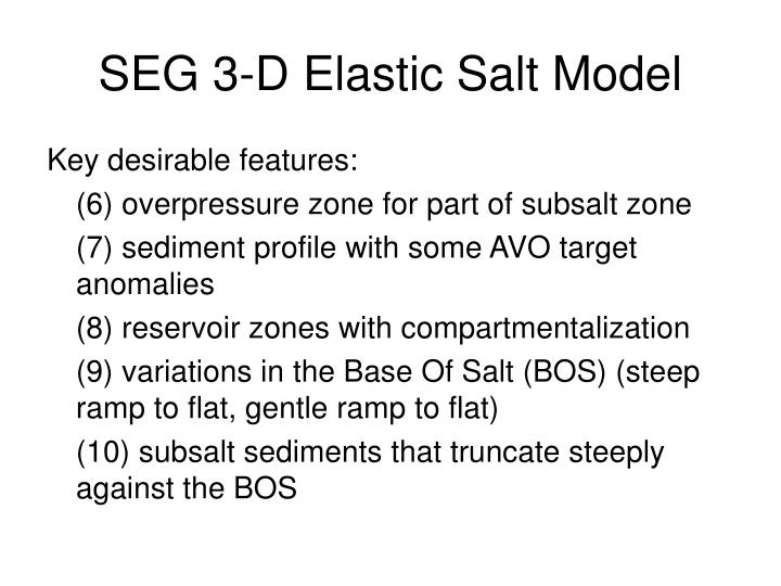 SEG 3-D Elastic Salt Model