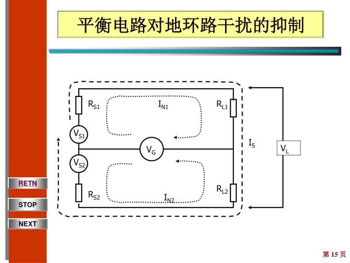 平衡电路对地环路干扰的抑制