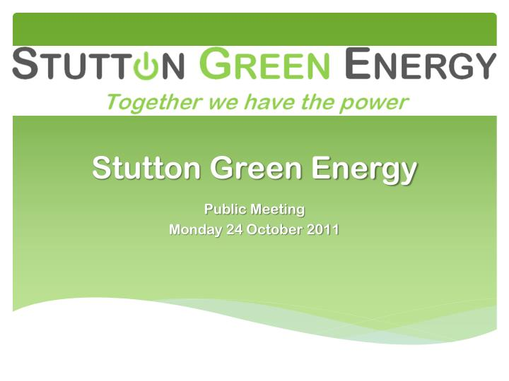 stutton green energy n.