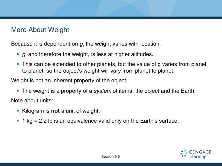 More About Weight