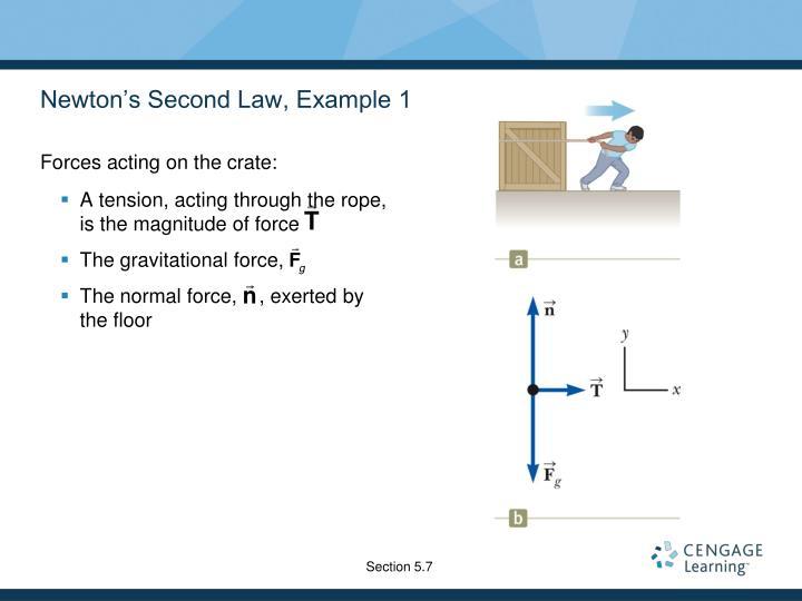 Newton's Second Law, Example 1