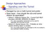 design approaches signaling over the tunnel