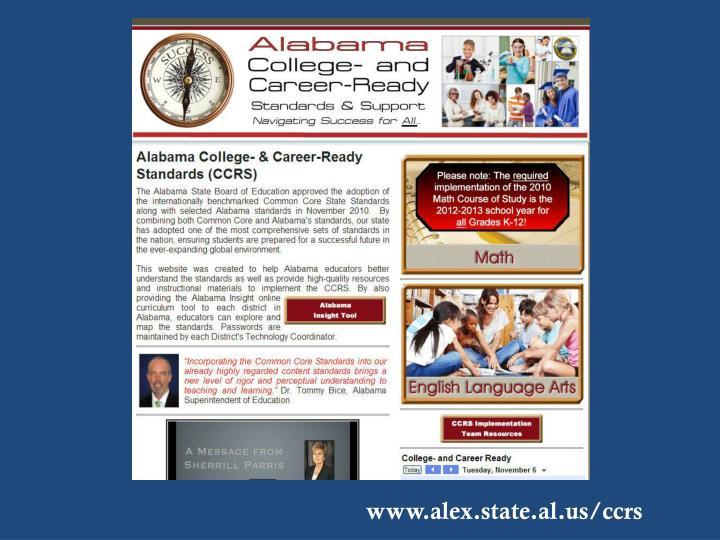 www.alex.state.al.us/ccrs