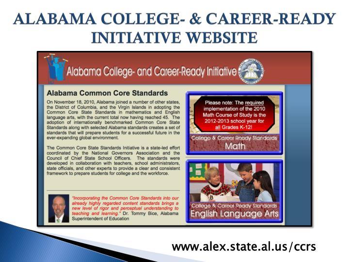 ALABAMA COLLEGE- & CAREER-READY INITIATIVE WEBSITE