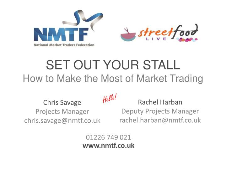 set out your stall how to make the most of market trading n.