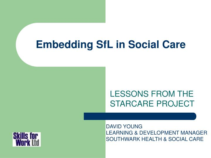 embedding sfl in social care n.