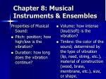 chapter 8 musical instruments ensembles