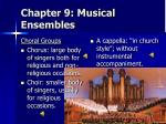 chapter 9 musical ensembles