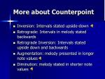 more about counterpoint